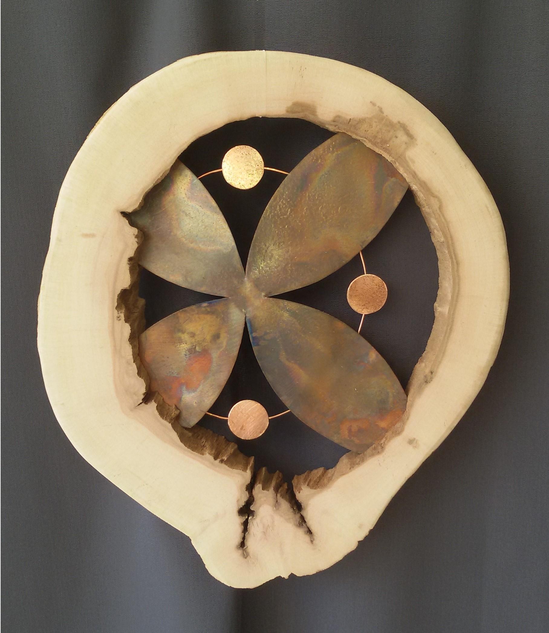 création artisanale, décoration murale, cuivre et bois