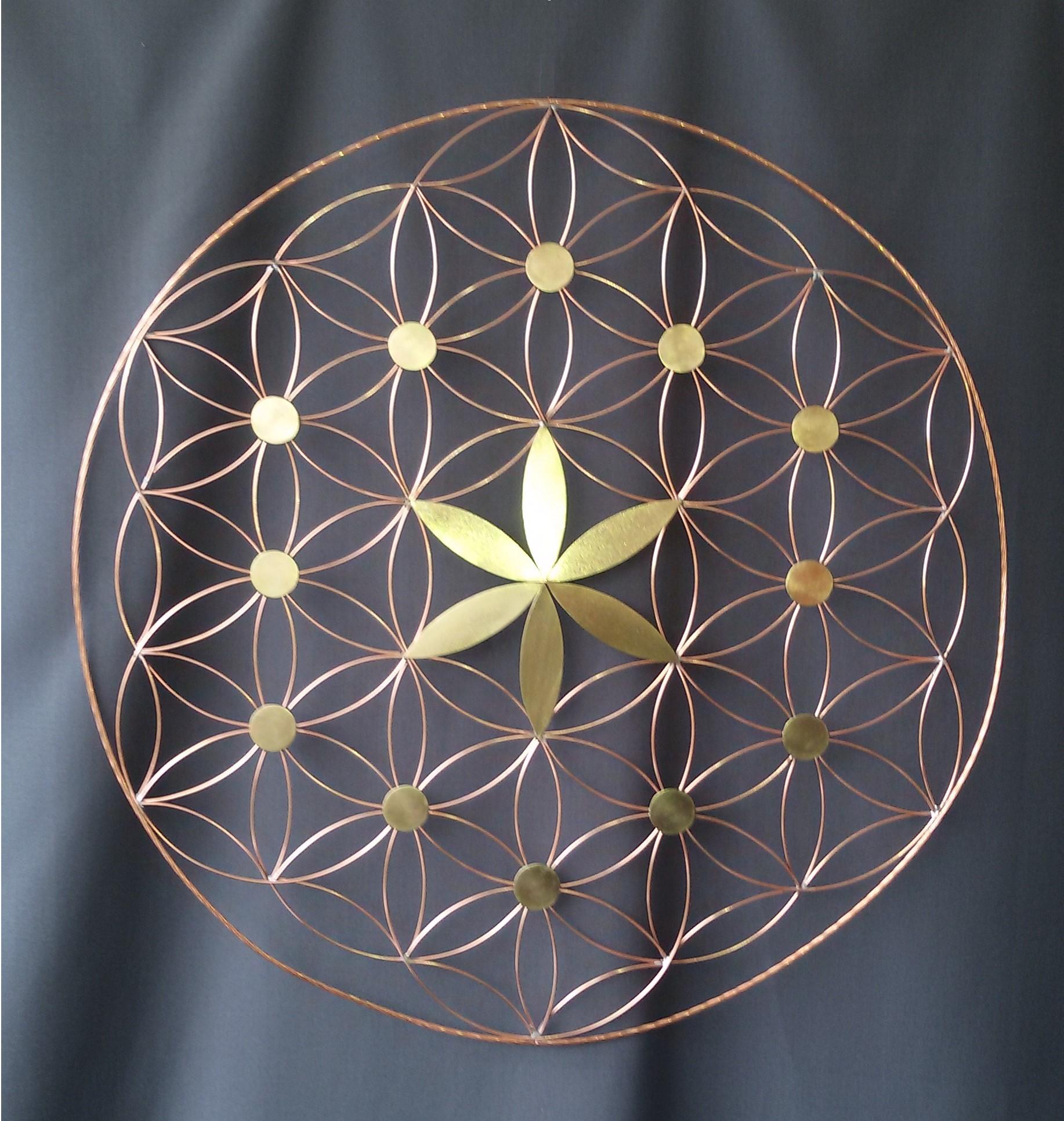 création artisanale décoration, création vibratoire, fleur de vie
