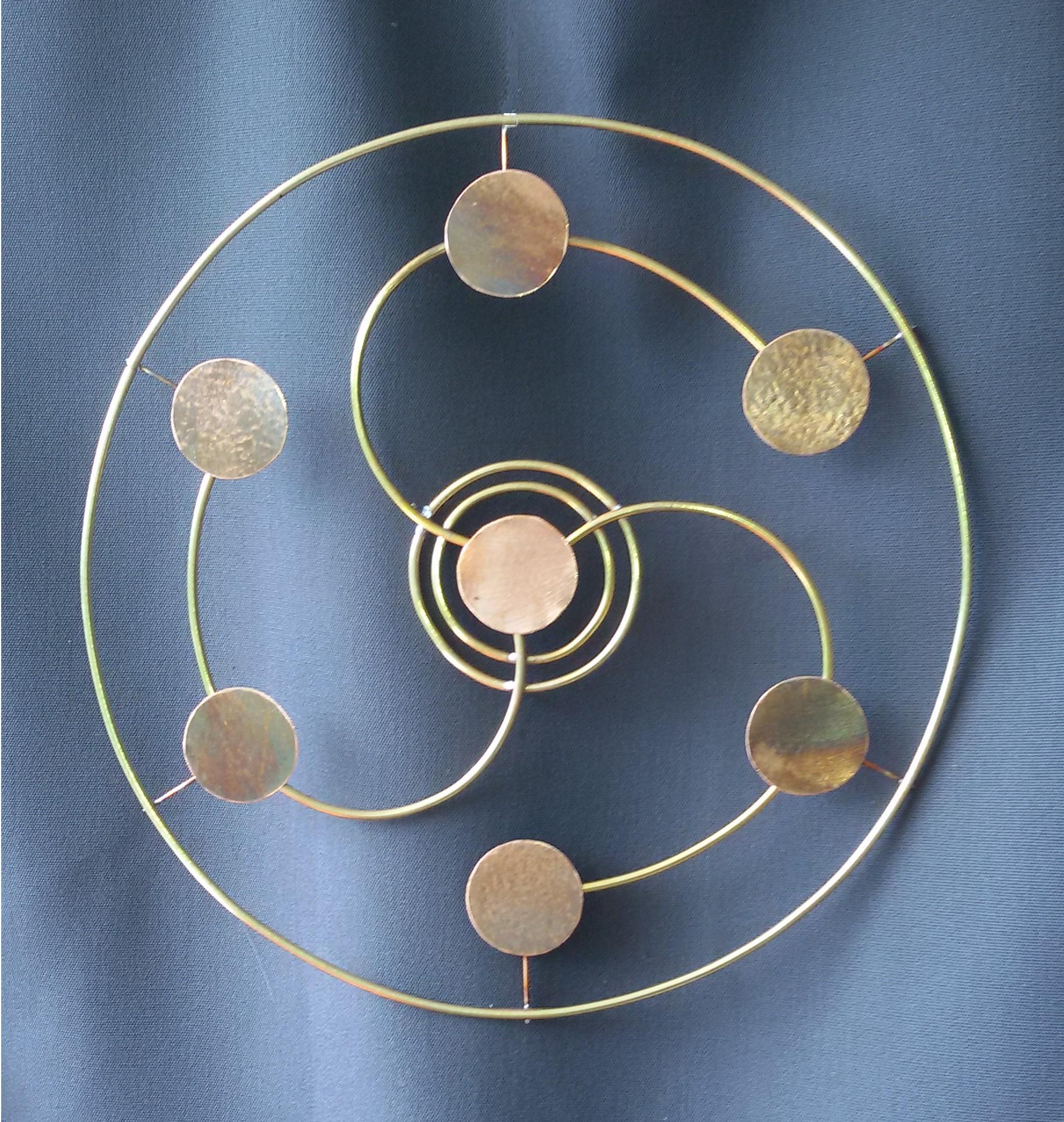 création artisanale, décoration murale, décoration cuivre naturel et laiton