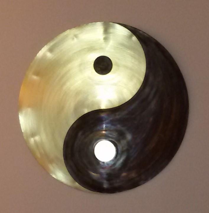 création artisanale décoration, yin yang, décoration feng-shui
