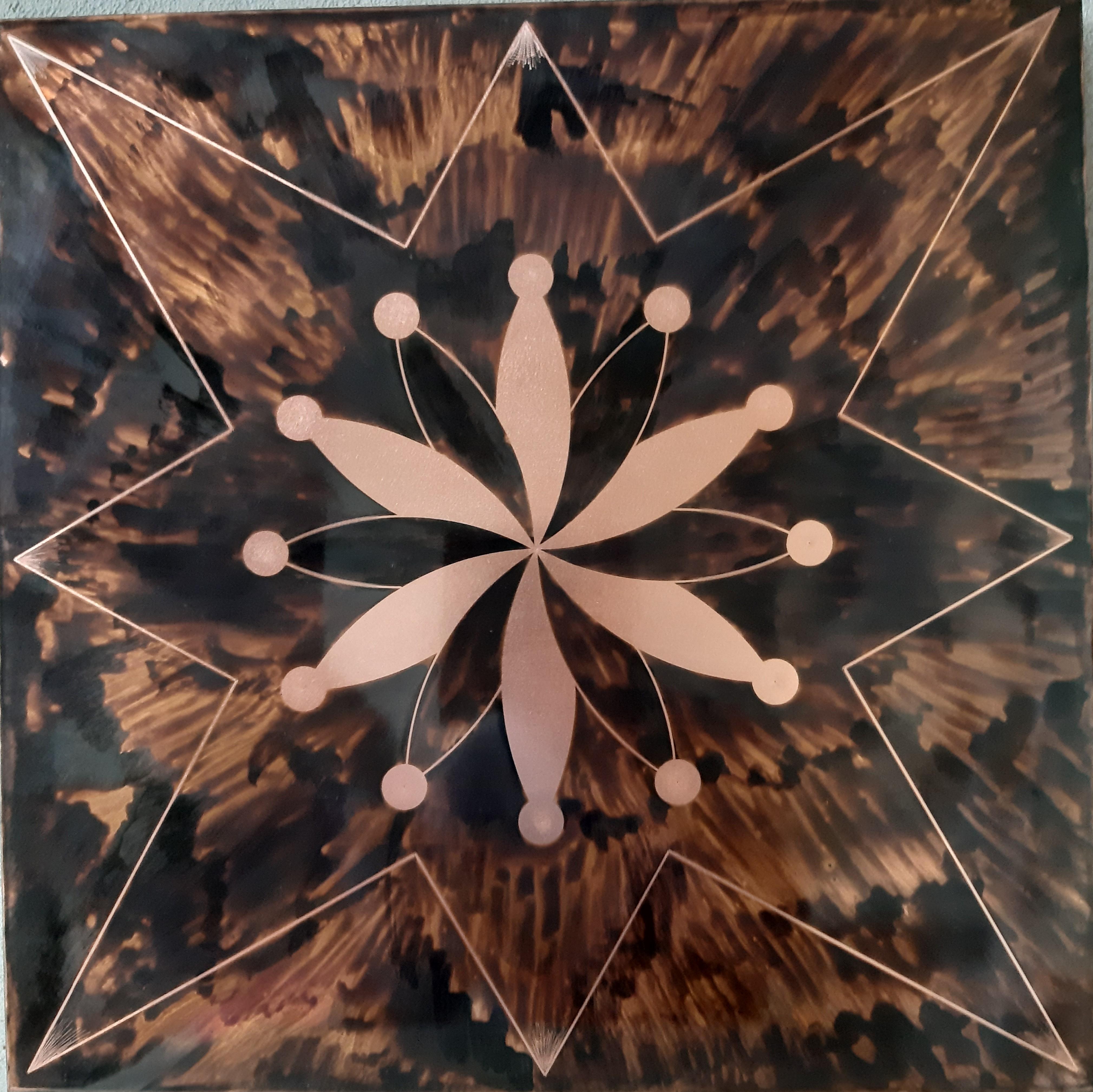 Tableau cuivre, décoration murale, création vibratoire